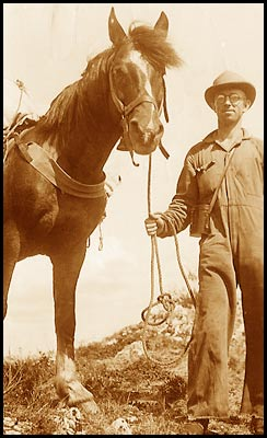 photo of crawford with horse