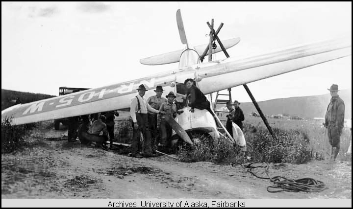 Wiley Post's plane crashed at Flat