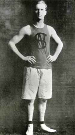 Irving Reed as captain of the Nome High School basketball team in 1907.  Photo from the Reed family collection.