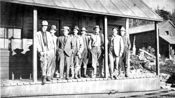 photo of Seagrave and other managers at Kennecott Mine