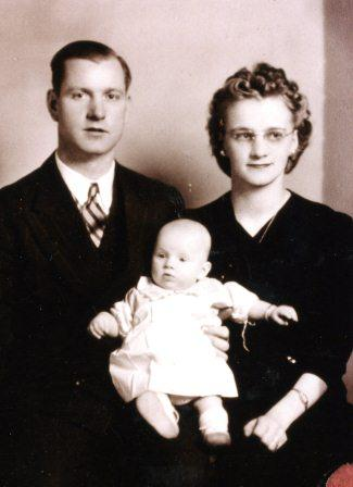Oscar and Irene Tweiten with their daughter, Judie Ann.